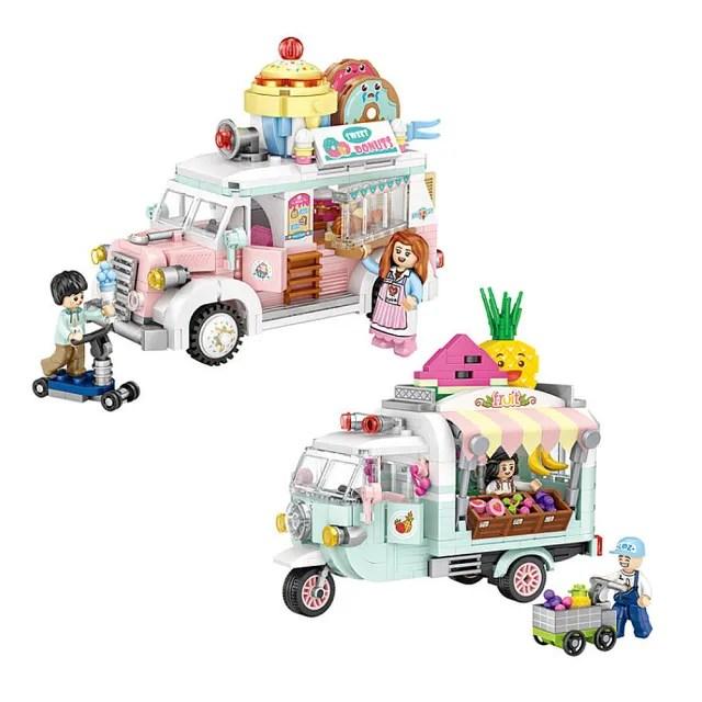 【LOZ】mini 鑽石積木-1737 水果車 1738 甜品車