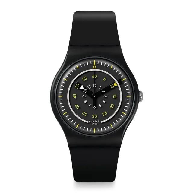【SWATCH】Transformation 系列手錶 PIU NERO 透明黑鏡(41mm)