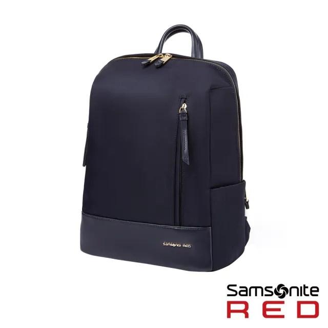 【Samsonite RED】SEROL 超輕量尼龍女性筆電後背包13 海軍藍(GS8)