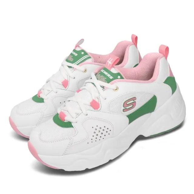 【SKECHERS】休閒鞋 D Lites 2 美少女戰士 女鞋 聯名老爹鞋 厚底 木星仙子 木野真琴 白 綠(66666267WPK)