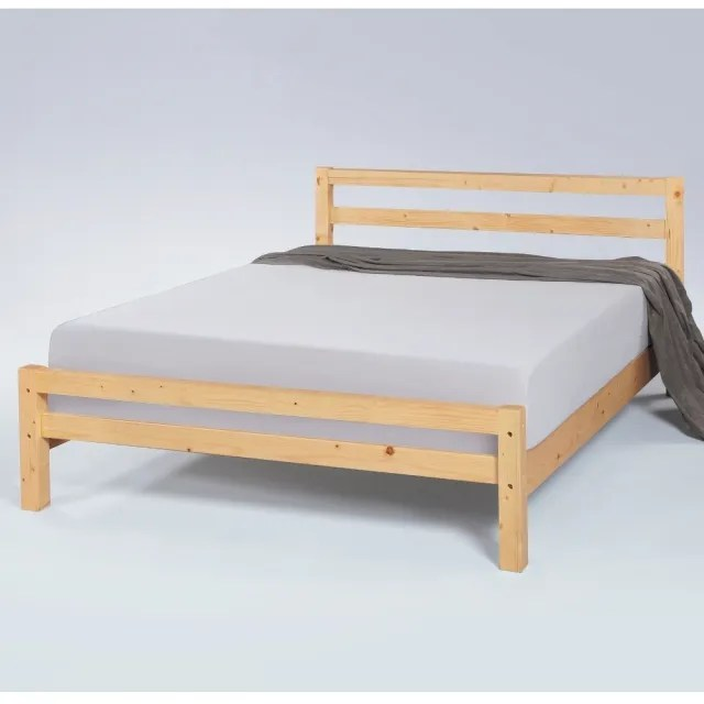 【MUNA 家居】1812型傑森6尺實木雙人床(床架 雙人加大床 實木 床台)