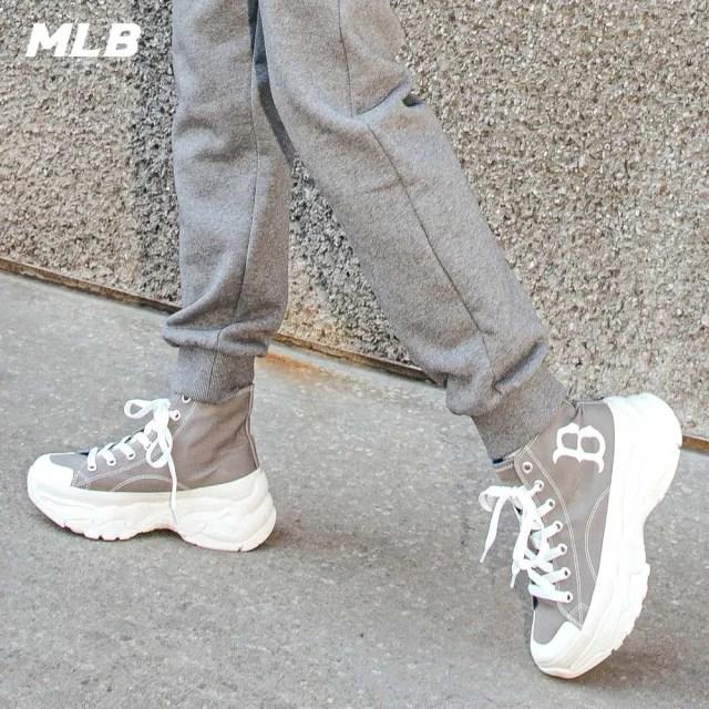 【MLB】高筒帆布老爹鞋 Chunky High 波士頓紅襪隊(32SHU1111-43M)
