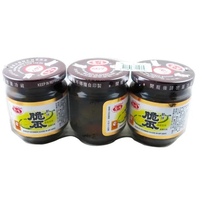 【愛之味】脆瓜180g*3罐