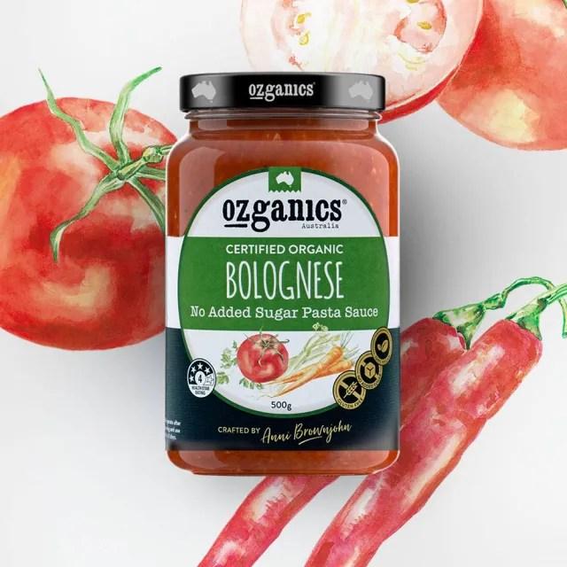 【澳洲Ozganics】有機蔬菜義大利麵醬(500g)