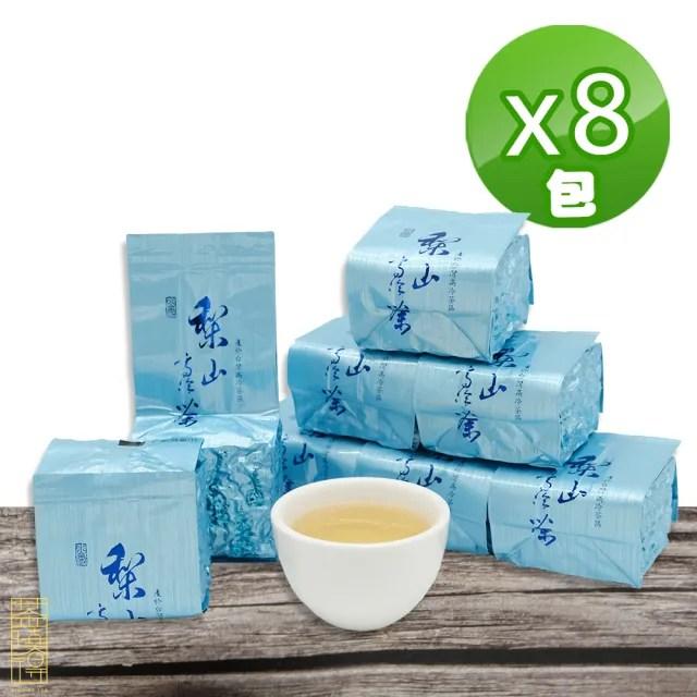 【茶曉得】梨山比賽級高冷烏龍茶葉75gx8包(1斤)