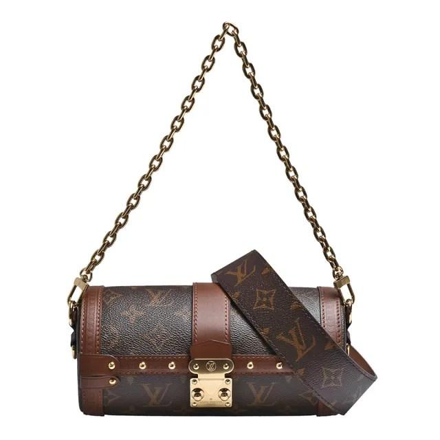 【Louis Vuitton 路易威登】M57835 PAPILLON TRUNK經典Monogram帆布斜背圓筒包
