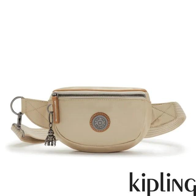 【KIPLING】淺焙烏龍拿鐵色小巧簡約腰包-JOSU