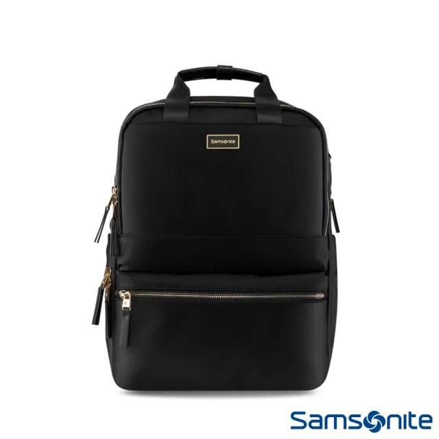 【Samsonite 新秀麗】AQUARIUS防潑大容量女用筆電後背包 14(黑)