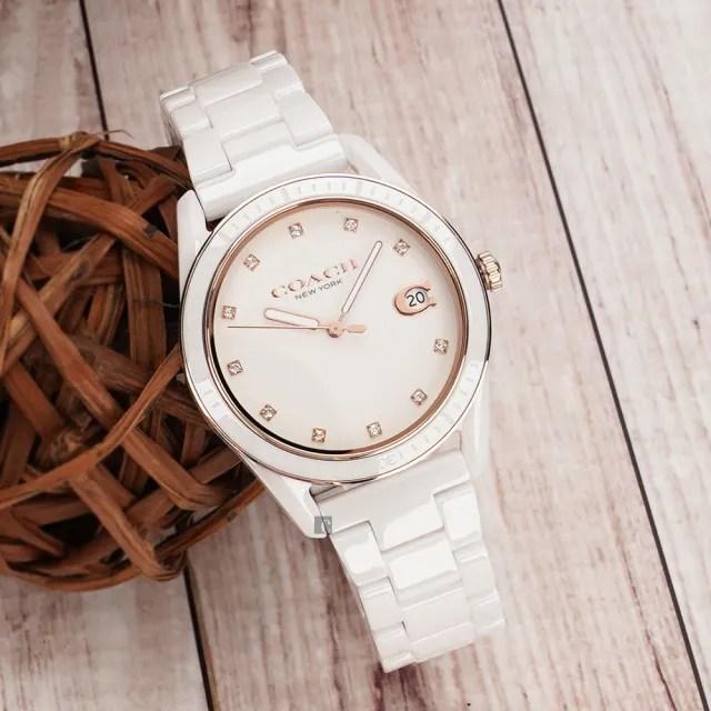 【COACH】Preston 陶瓷晶鑽女錶-36mm(14503263)