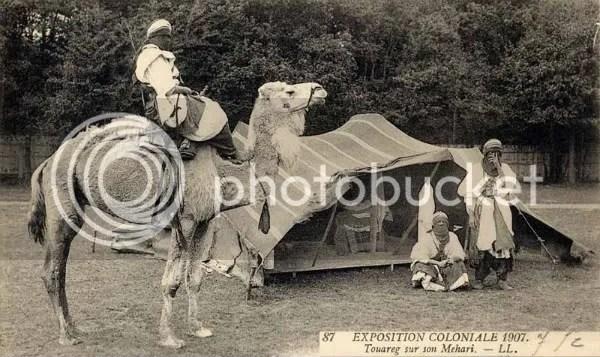 Los Tuaregs, Exposición Colonial 1907. Zoológico Humano de París.
