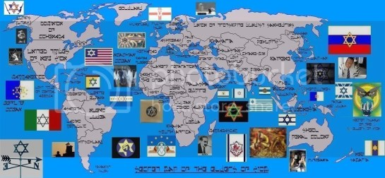 Image result for map of zionist world