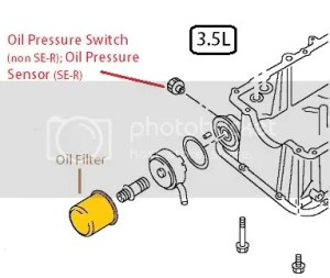 Oil Pressure Switch location  Nissan Forums : Nissan Forum