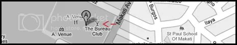 Bureau Club Makati Map