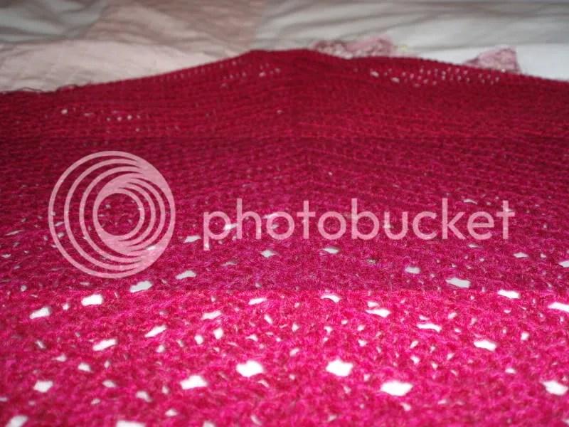 Raspberry Lace Shawl