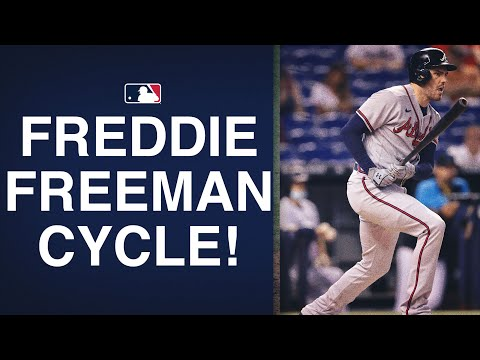 It only took 6 innings for Freddie Freeman to hit for his second career cycle!