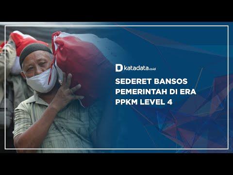 Sederet Bansos Pemerintah di Era PPKM Level 4 | Katadata Indonesia
