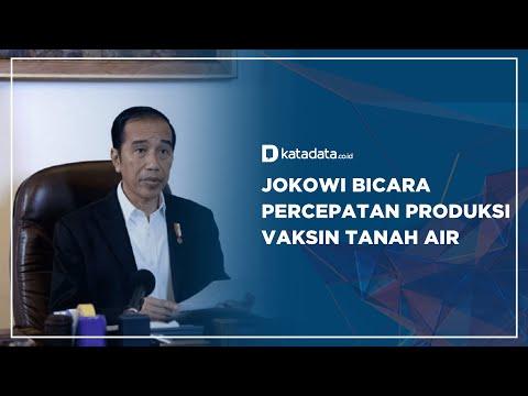 Jokowi Bicara Percepatan Produksi Vaksin Tanah Air   Katadata Indonesia