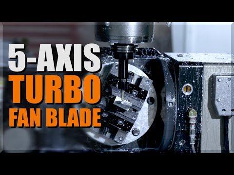5-Axis Machined Turbo Fan Blade on HAAS VM3!