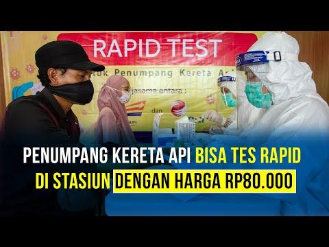 PT KAI Sediakan Fasilitas Rapid Test