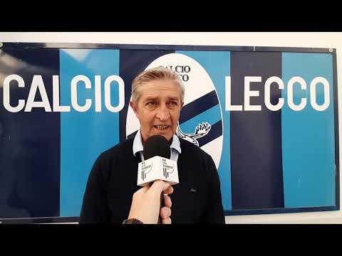 Mister Marco Masi e Damiano Rinaldini nel post Lecco-Pianese
