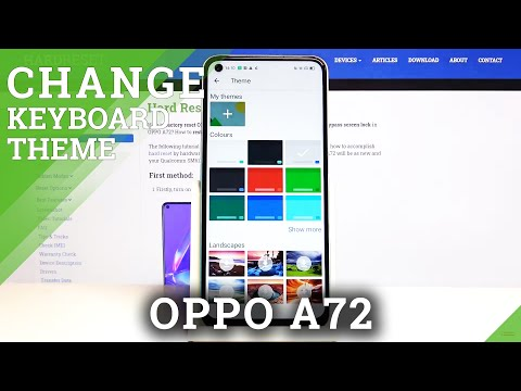 How to Change Keyboard Theme in Oppo A72 - Personalize Android Display