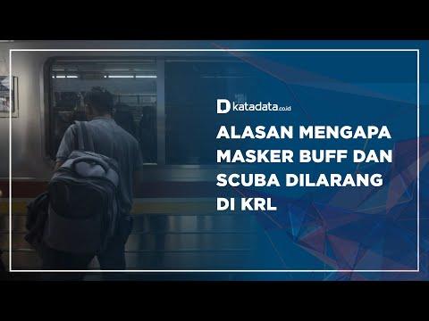 Alasan Mengapa Masker Buff dan Scuba dilarang di KRL | Katadata Indonesia