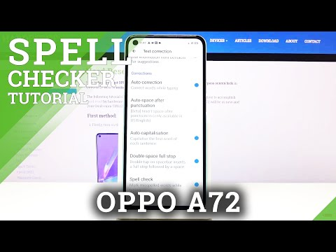 How to Activate Spell Checker in OPPO A72 - Mark Misspelled Word