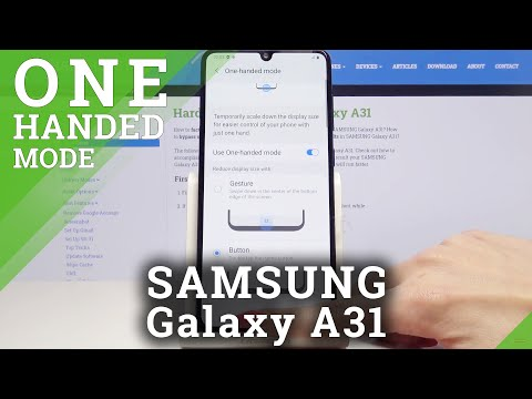 How to Activate One Handed Feature in Samsung Galaxy A31 - Enable One Handed Mode