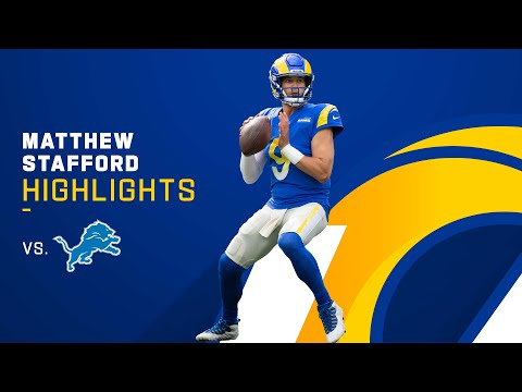 Matthew Stafford's Best Throws from 334-Yd Game vs. Lions | NFL 2021 Highlights