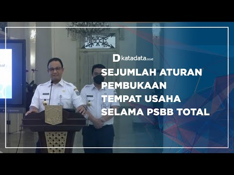 Sejumlah Aturan Pembukaan Tempat Usaha Selama PSBB Total | Katadata Indonesia
