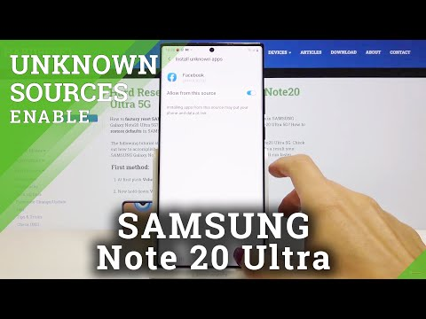 How to Enable Unknown Sources in SAMSUNG Galaxy Note 20 Ultra – Allow Downloading
