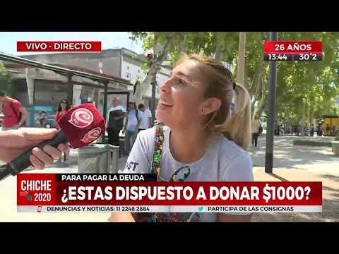 ¿Estás dispuesto a donar mil pesos para pagar la deuda con el FMI?
