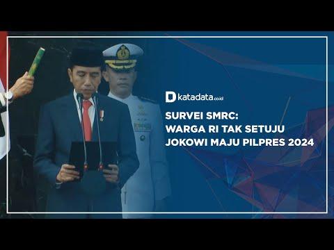 Survei SMRC: Warga RI Tak Setuju Jokowi Maju Pilpres 2024 | Katadata Indonesia