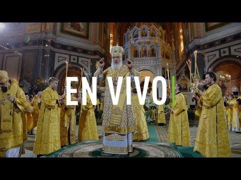 El patriarca ruso Kiril oficial la Misa por la Navidad ortodoxa