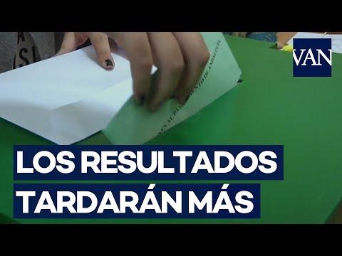 Elecciones Andalucía. Los primeros resultados llegarán más tarde