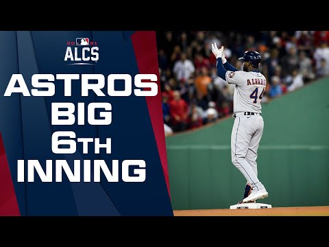 Astros break the game open with FIVE RUN 6th inning! (Take COMMANDING LEAD in Game 5)