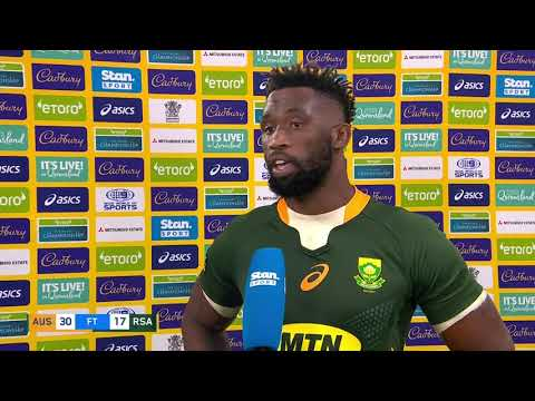 The Castle Lager Rugby Championship | Australia v South Africa | Interview with Siya Kolisa