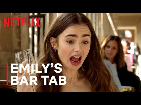 The Total Cost Of All Emily's Drinks In Emily In Paris | Netflix