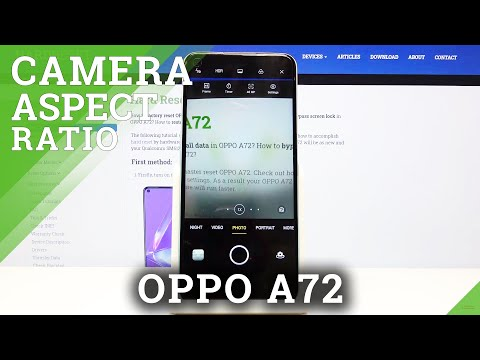 How to Change Aspect Ratio in Oppo A72 - Camera Aspect Ratio