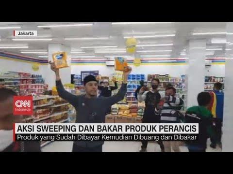 Aksi Sweeping dan Bakar Produk Perancis