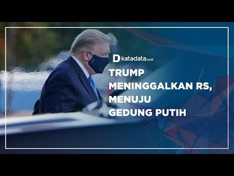 Trump Meninggalkan RS, Menuju Gedung Putih | Katadata Indonesia
