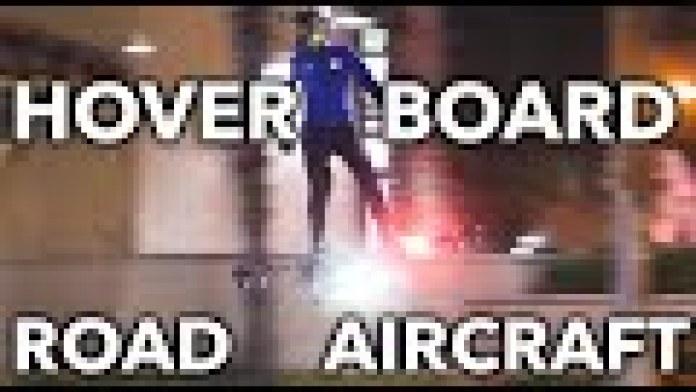 Mit einem echten Hoverboard durch die Stadt