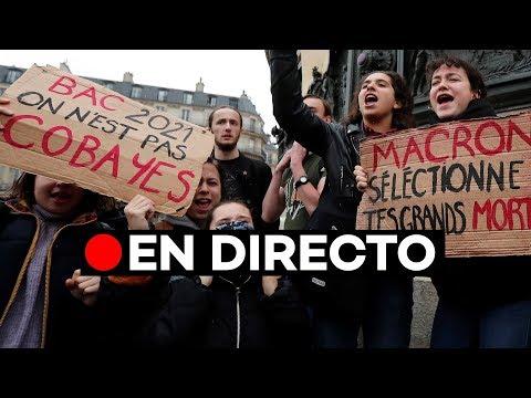 EN DIRECTO: Manifestación de estudiantes en París