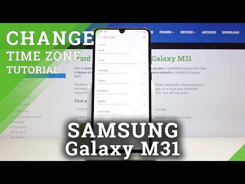 How to Change Date And Time in SAMSUNG Galaxy M31 – Change Time Zone