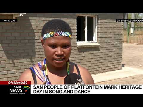 The San people mark Heritage Day in song and dance in the Northern Cape