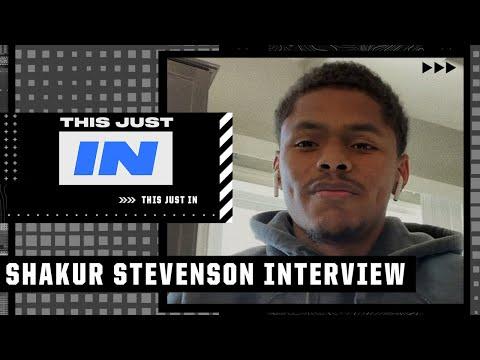 Max Kellerman interviews Shakur Stevenson before his title fight vs. Jamel Herring | This Just In