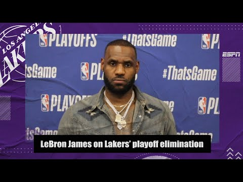 LeBron James reacts to the Lakers getting eliminated from the NBA playoffs | 2021 NBA Playoffs