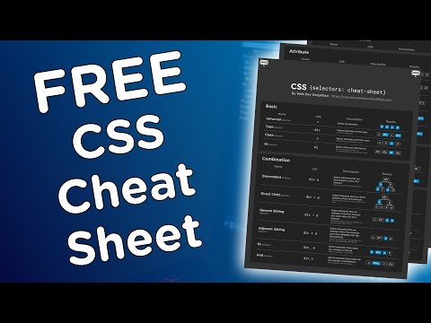 FREE CSS Selector Cheat Sheet + Bonus Cheat Sheet!