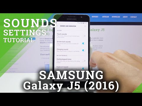 How to Turn On / Off Dial Pad Sounds in SAMSUNG GALAXY J5 (2016) - Access Sound Settings