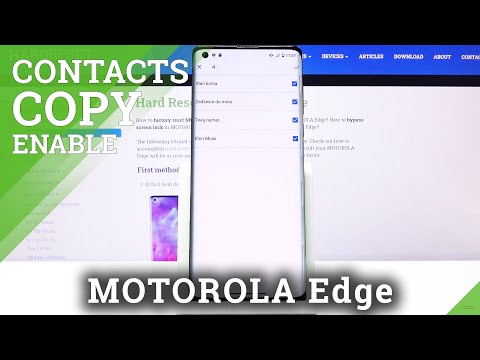 How to Copy Contacts in Motorola Edge – Transfer Contacts